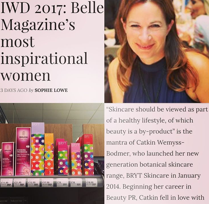 Founder Catkin in Inspirational Women of 2017 in Belle Magazine, March 2017
