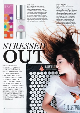 BRYT Calm Serum in Limited Edition Magazine, December 2016
